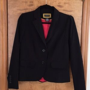 Cute Black Polyester Blazer